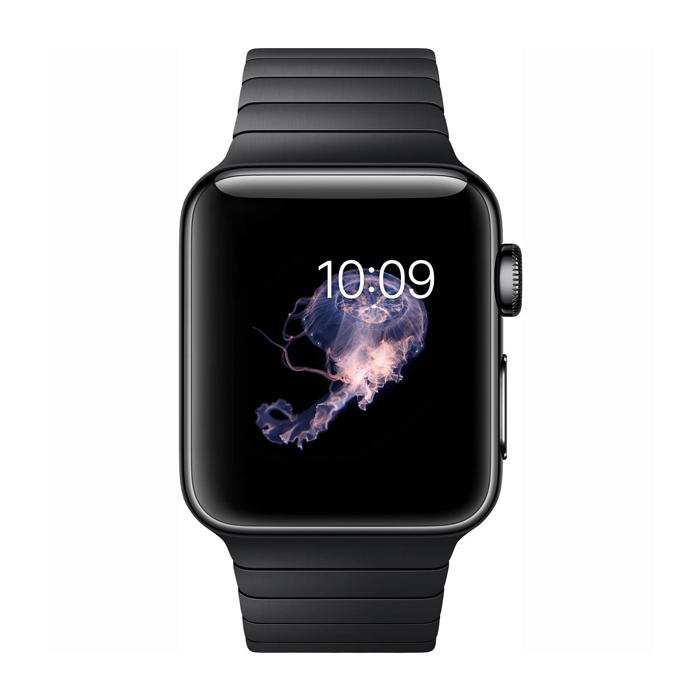 space black stainless steel watch - 700×700