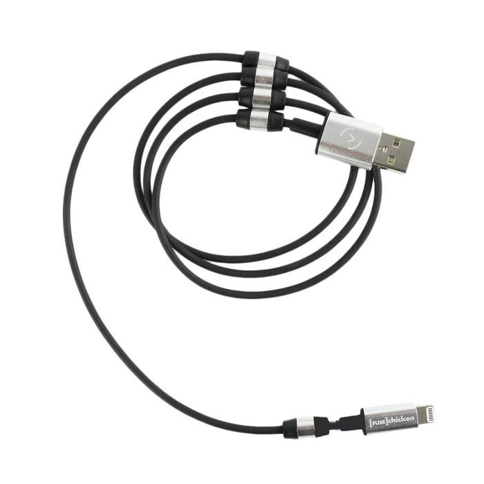 Fuse Chicken Usb Cable To Lightning Rivet Charge 1m Black Mlc