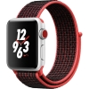 Фото - Цена Apple Watch Series 3 Nike+ GPS + LTE 42mm Silver Aluminum Case/Bright Crimson/Black SportLoop (MQMG2)