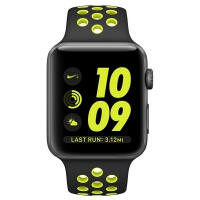 Apple Watch Nike+ 38mm Space Gray Aluminum Case with Black/Volt Nike Sport Band (MP082)