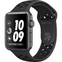 Apple Watch Nike+ 38mm Space Gray Aluminum Case with Anthracite/Black Nike Sport Band (MQ162) (US)