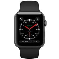 Apple Watch Series 3 Space Gray Aluminum Case with Black Sport Band (US)