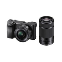 Sony Alpha A6300 Double Kit (16-50) (55-210) Black (US)