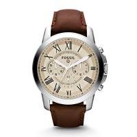 Fossil Q Grant 44mm Stainless Steel Case Brown
