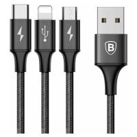 BASEUS Rapid 3-in-1 Cable Black