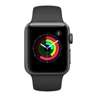 Apple Watch Series 1 38mm Space Gray Aluminum Case with Black Sport Band (MP022) US