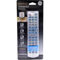 GENERAL ELECTRIC 33712 Universal Remote Control 6 Devices Brushed Silver (BULK)