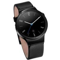 HUAWEI Watch (Black Stainless Steel with Black Leather Strap)