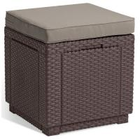 Allibert  189449 Cube Stool Brown