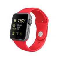 Apple Watch Sport 42mm Gold Aluminum Case with Red Sport Band (MMEE2) C
