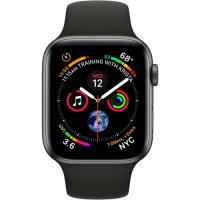Apple Watch Series 4 Black Sport Band 44mm Space Gray Aluminium Case (MU6D2)