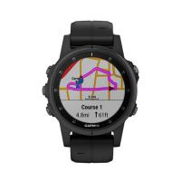 Garmin Fenix 5S Plus Sapphire Black with Black Silicone (010-01987-78)