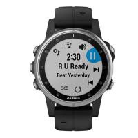 Garmin Fenix 5 Plus Silver with Black Band (010-01988-60)