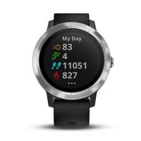 Garmin Vivoactive 3 Silver with Black Silicon (010-01769-B0)
