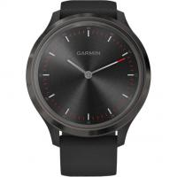 Garmin Vivomove 3 Slate Stainless Steel Bezel w. Black and Silicone B. (010-02239-01)