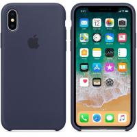 Apple iPhone X Silicone Case - Midnight Blue (MQT32)