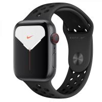 Apple Watch Series 5 GPS + LTE 44mm Space Grey Aluminum w. Anthracite/Black Nike Sport Band (MX3A2/MX3F2)