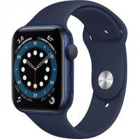 Apple Watch Series 6 GPS 44mm Blue Aluminum Case w. Deep Navy Sport B. (M00J3)