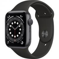 Apple Watch Series 6 GPS 44mm Space Grey Aluminum Case w. Black Sport B. (M00H3)