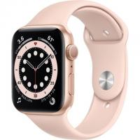 Apple Watch Series 6 GPS 44mm Gold Aluminum Case w. Pink Sand Sport B. (M00E3)