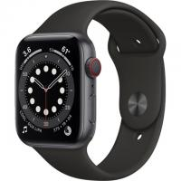 Apple Watch Series 6 GPS + Cellular 40mm Space Grey Aluminum Case w. Black Sport B. (M02Q3)