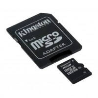 Kingston 16 GB microSDHC class 10 + SD Adapter