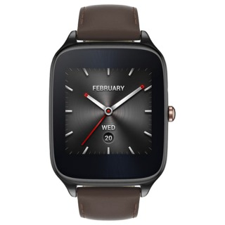 Фото - ASUS ZenWatch 2 WI501Q Stainless Steel Gunmetal/Brown Leather (Refurbished by  ASUS)