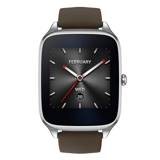 Asus ZenWatch 2 Stainless Steel WI501Q Silver/Taupe Rubber (Refurbished by  Asus)