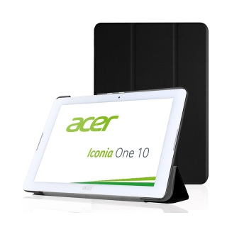 Pasonomi PU Leather Folio Case Stand Cover Acer Iconia One B3-A20 10 Black