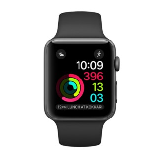 Фото - Apple Watch Series 2 38mm Space Gray Aluminum Case with Black Sport Band (MP0D2)