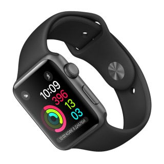 Фото - Apple Watch Series 2 42mm Space Gray Aluminum Case with Black Sport Band (MP062)