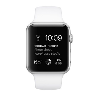 Apple 42mm Silver Aluminum Case with White Sport Band (MJ3N2) (refurbished)