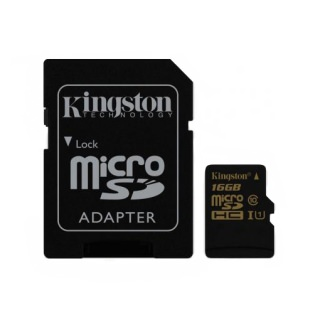 Фото - Kingston 16 GB microSDHC class 10 UHS-I + SD Adapter SDCA10/16GB Уценка (вскрыта упаковка)