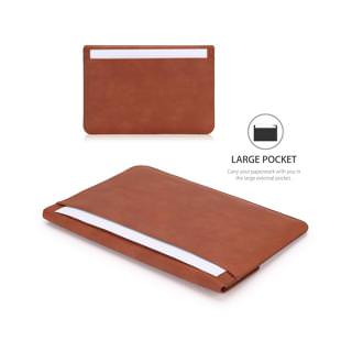 Moko PU Leather Case 10-11 Inch Sleeve Brown