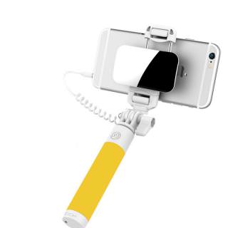 Фото - ROCK Mini S Selfie Stick with Wire Control Yellow