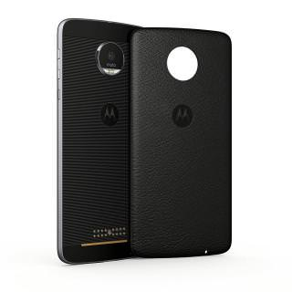 Фото - STYLE SHELL MOTO MOD Black Leather (для Moto Z/Moto Z Play)