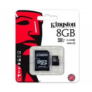 Карта памяти Transcend 8GB microSDHC C10 UHS-I R45MB/s +SD адаптер