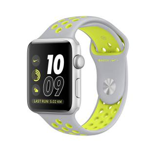Фото - Apple Watch Nike+ 42mm Silver Aluminum Case with Silver/Volt Nike Sport Band - Silver Aluminum (MNYQ2) (US)