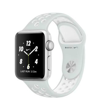 Apple Watch Nike+ 42mm Silver Aluminum Case with Pure Platinum/White Nike Sport Band (MQ192) (US)