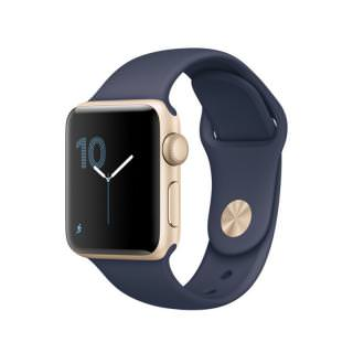 Apple Watch Series 1 38mm Gold Aluminum Case with Midnight Blue Sport Band (MQ102) (US)