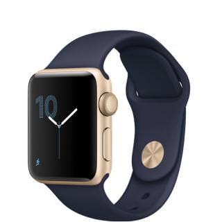 Фото - Apple Watch Series 2 38mm Gold Aluminum Case with Midnight Blue Sport Band (MQ132) (US)