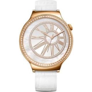 Фото - HUAWEI Watch (Pearl White Leather Strap with Swarovski Zircon) Rose Gold (US)