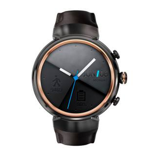 Фото - ASUS ZenWatch 3 Smartwatch Gunmetal Casing/Dark Brown Leather Band (WI503Q-GL-DB)