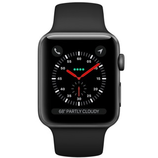 Фото - Apple Watch Series 3 42mm Space Gray Aluminum Case Black Sport Band MQL12 (US)