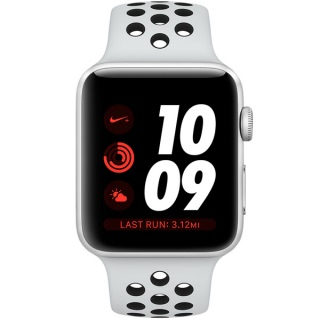 Фото - Apple Watch Nike+ Series 3 (GPS) 38mm Silver Aluminum w. Pure Platinum/BlackSport B. (MQKX2) (US)