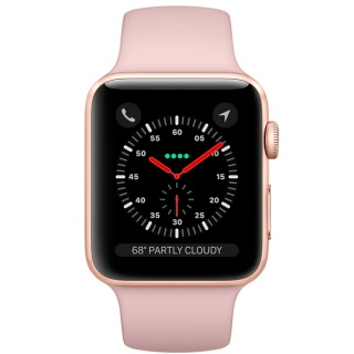 Фото - Apple Watch Series 3 (GPS) 42mm Gold Aluminum w. Pink Sand Sport B. - Gold (MQL22) (US)
