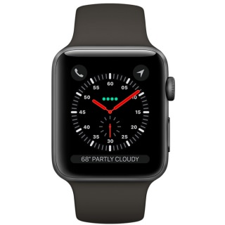 Apple Watch Series 3 (GPS) 42mm Space Gray Aluminum w. Gray Sport B. - Space Gray (MR362) US