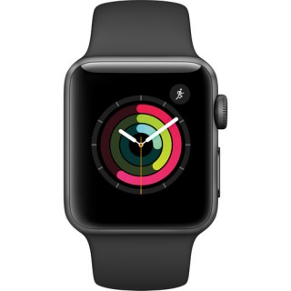 Apple Watch Series 2 42mm Space Gray Aluminum Case with Black Sport Band (US)