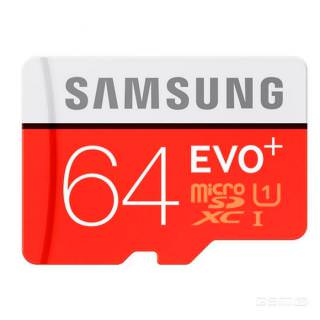 Фото - Samsung 64 GB microSDXC Class 10 UHS-I EVO Plus + SD Adapter MB-MC64DA (Bulk)