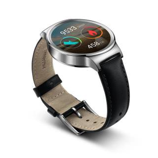 HUAWEI Watch (Stainless Steel with Black Leather Strap) (Open box)